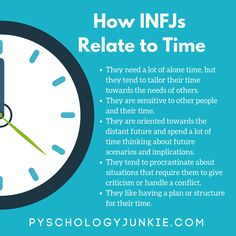 10 Things You'll Relate to If You're an INFJ - Psychology Junkie Get a look at how understand and experience time. Infj Mbti, Enfj, Infj Traits, Infj Personality, Myers Briggs Personality Types, Advocate Personality Type, Personality Characteristics, Personality Profile, Infj Type
