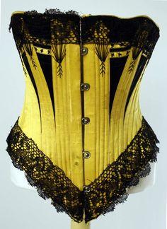 1880's extant corset