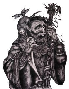 Anciano (elfo) del Bosque   x Franco Alexander Rosero