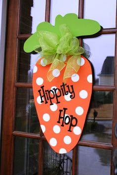 Large Whimsical Carrot Door Decor Hand cut & by southernwhimzy