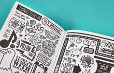 Illustrated section dividers for Innocent's cookbook - New Future Graphic