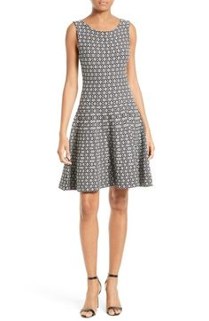 Milly Geo Jacquard Fit & Flare Dress available at #Nordstrom