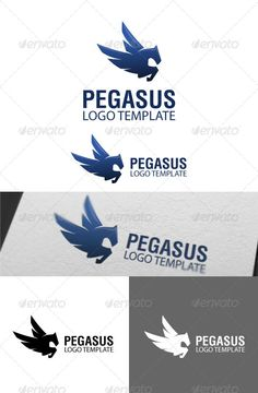 Pegasus Logo Template #GraphicRiver Suitable for: • Modern Business • Photography • Technology • Web Pages • Software and Apps • Corporations • Video Games and Clans Description: • 1 .AI files • 2 .EPS files • 1 JPG files 3000×3000 • 1 PNG files 3000×3000 • 1 TEXT file Specifications: • Vector based Logo (It is resizable without loss of quality) • Print Ready • 300 DPI • CMYK Versions of the logo included: • Full color • Black and White Color • Greyscale Created: 24June13…