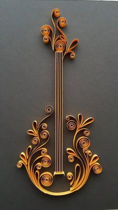 Guitar Wall Art Wall Decor Guitar Paper Art Guitar Player Gift Music Decor Music Art Music Gift Gift for Him Guitar Gift Quilling Arte Quilling, Paper Quilling Flowers, Paper Quilling Cards, Quilling Work, Paper Quilling Jewelry, Paper Quilling Patterns, Origami And Quilling, Quilled Paper Art, Quilling Paper Craft