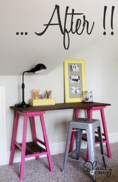 barstools to desk (or bar!)
