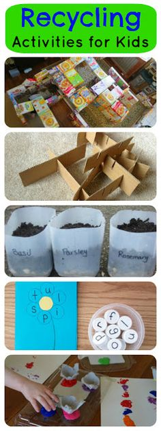 Look at your recycling bin in a whole new way.  10 recycling activities for kids.