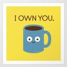 Coffee Talk Art Print
