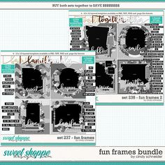 Cindy's Layered Templates - Fun Frames Bundle by Cindy Schneider Photo Drop, Drop Shadow, Scrapbook Templates, Happy Spring, Page Template, Digital Scrapbooking, Frames, Memories, Make It Yourself