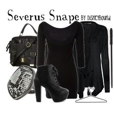 Severus Snape, created by lalakay on Polyvore... LOVE!  I don't normally dress in all black, but this would be fun once in a while