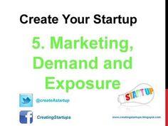 Create Your Startup Company: Step 5 - Marketing - Demand - Exposure - Create Yo. Business Networking, Start Up Business, Create Yourself, Marketing