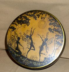 Vintage Tin with Fairies