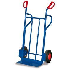 GTARDO.DE:  Stahlrohrkarre, große Schaufel, Tragkraft 250 kg, Maße 686 x 552 x 1185 mm, Schaufel 480 x 147 mm, Rad 250 x 60 mm 106,00 €
