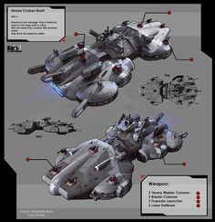 Heavy Cruiser Hurst by *KaranaK on deviantART