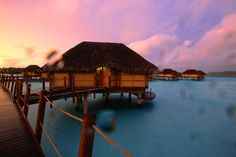 over the water bungalow in the French Polynesia...can we say Happy 10yr wedding anniversary?!!