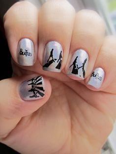 Beatles nail art