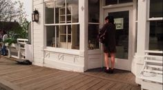 Front of the Verbena shop - all white, lots of light with glass door