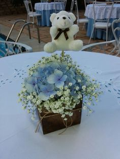 Baby Shower Flower Arrangement Boy Theme Baby Shower Baby