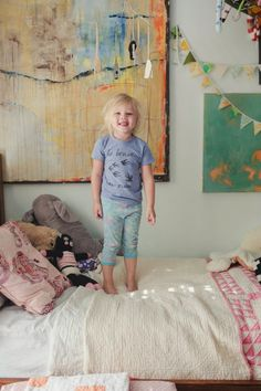 love the serendipity & texture for a little girl's room