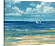 Shop for Portfolio Canvas Decor Paul Brent 'Summerset Sailboats' Framed Canvas Wall Art. Get free delivery On EVERYTHING* Overstock - Your Online Art Gallery Store! Get in rewards with Club O! Sailboat Art, Sailboat Painting, Sailboats, Canvas Frame, Canvas Wall Art, Big Canvas, Ocean Canvas, Painting Prints, Wall Art Prints