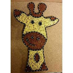 giraffe string art by CarlysStringArt on Etsy