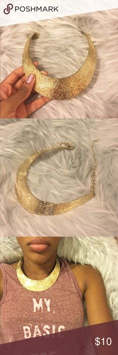 G O L D • C O L L A R This gold color necklace is for Royals only! 👑  Not Nasty Gal. Nasty Gal Jewelry Necklaces