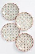 Bleu D'Chine Ceramic Round Plates- By Caravan