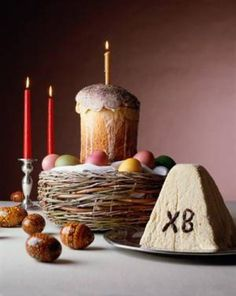 Kulich and Paskha. Repinnd by www.mygrowingtraditions.com