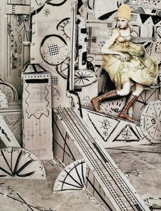 Set Designer Jerry Schwartz for Anna Sui Incredible