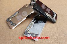 Beliebte einzigartige 3D Relief Harley Adler Eagles Metall Handyhülle für Iphone 4/4S/5/5S/6/6 plus/6S/6S plus - spitzekarte.com