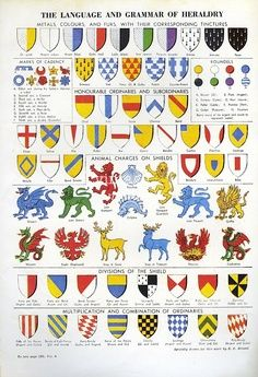 Heraldry guide is it wrong i could name most of these without referring to the legends at the - Crest home design curtains ...
