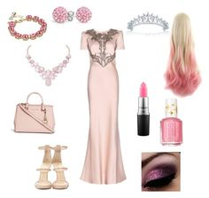 """""""Pink Princess"""" by herm10ne-ruby on Polyvore featuring Alexander McQueen, Giuseppe Zanotti, Bling Jewelry, Michael Kors, MAC Cosmetics, Essie, Humble Chic and Kate Spade"""
