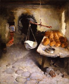 The Bakery 1887 oil on canvas - Helene Schjerfbeck Helene Schjerfbeck, Florence Academy Of Art, Z Arts, Abstract Images, Love Drawings, Land Art, Helsinki, Art Blog, Painting Inspiration