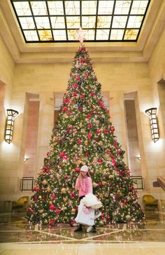 The gorgeous Christmas tree at Four Seasons Hotel New York.