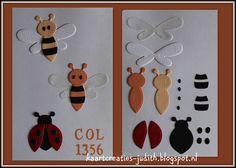 Bijtje en lieveheerstbeestje - Marianne Design