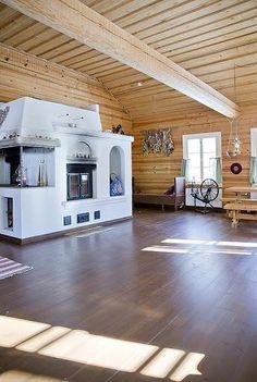 Keltainen talo rannalla: Sisustuksia maalta kaupunkiin Amazing Decor, Cottage Interiors, Log Homes, Old Houses, My House, Home Goods, Pergola, Sweet Home, Outdoor Structures