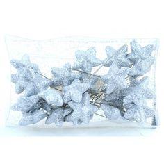 Varie - Spilli con Stellina Glitter Argento pz 24 - un prodotto unico di raffasupplies su DaWanda