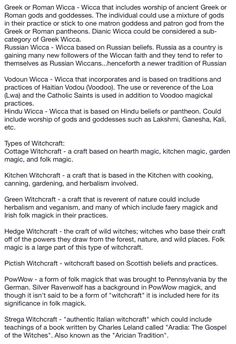 Types of witches page 6 - Pinned by The Mystic's Emporium on Etsy