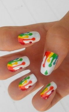 Pamper your nails by adorning them with exciting designs & colors. Here are 10 amazing hand painted nail art designs. Cute Nail Art, Beautiful Nail Art, Gorgeous Nails, Amazing Nails, Nail Polish Designs, Cute Nail Designs, Awesome Designs, Hot Nails, Hair And Nails