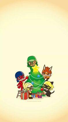 Miraculous Ladybug Wallpaper, Miraculous Ladybug Fan Art, Ladybug Comics, Miraclous Ladybug, Chibi, Mlb Wallpaper, Cute Christmas Wallpaper, Cat Noir, Cartoon Shows