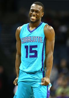 Kemba Walker #15 of the Charlotte Hornets reacts after a call during their game against the Brooklyn Nets at Time Warner Cable Arena on December 13, 2014 in Charlotte, North Carolina.