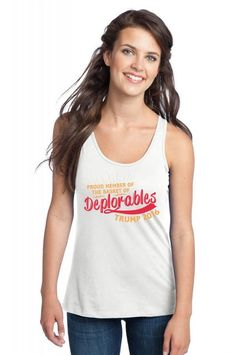Proud Member Of The Basket Of Deplorables Racerback Tank