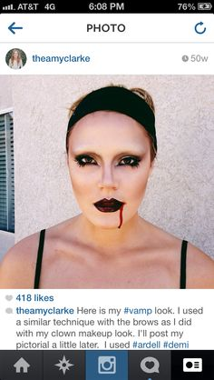 #vamp look created by Amy Clarke #theamyclarke #halloweenmakeup @theamyclarke #vampire