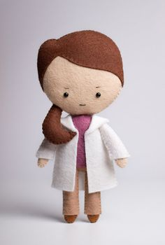 Molly Hooper - poseable plush from Sherlock - handmade doll