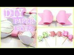 How to make Paper Bows using WRMK Envelope Punch Board - YouTube