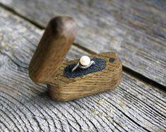 Proposal ring box, Wood ring box, Oak ring box, Engagement ring box, Wooden ring box, Unique ring box, Secret ring box, Small ring box