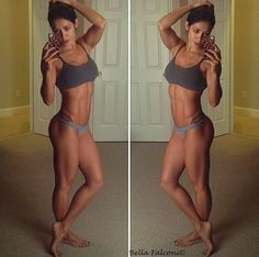 Fitness, fitness motivation, fitspo, fit girls with muscles, girls with muscles, legs, squats, workout butt, workout, train hard, abs, muscles, after picture