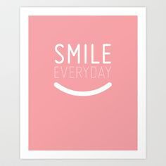 Smile Everyday Art Print by petite stitches - $15.00