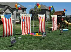Our dear friends made these for my daughter's carnival party.  I loved throwing this birthday party.  Such a fun idea!