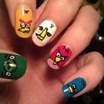 angry bird nails