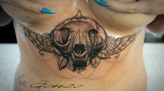 #tattoo #tattoos #catskull #underboob #boobs #es13 #elektrischerstuhl #hallesaale #realistic